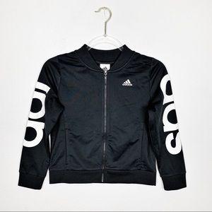 Adidas Black Zip Up Track Jacket Size M (10-12)